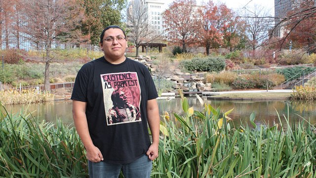 Phil Grover leads efforts to establish Sovereign Community School, a charter designed to meet the needs of Native American students. (Photo Laura Eastes)