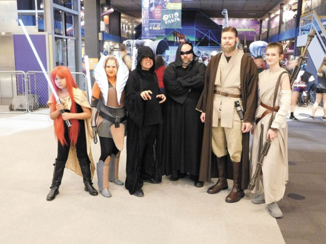 Those who attended Science Museum Oklahoma's last <em>Star Wars</em>-themed Science Overnight got the chance to pose with several of their favorite characters. (Science Museum Oklahoma / provided)