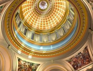 Oklahoma Capitol Dome with rays