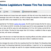 Oklahoma Tire Tax Increase