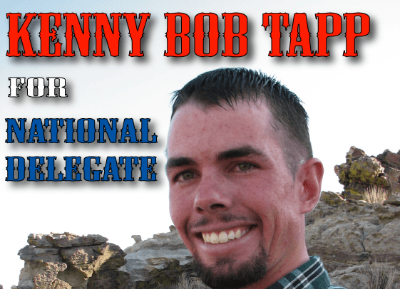 Kenny Bob Tapp for Republican National Delegate -- District 3 Oklahoma