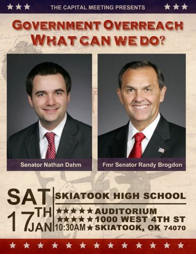 Government Overreach What Can We Do? - Senators Dahm and Brogdon Presentation in Skiatook