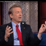 Rand Paul on with Colbert 2016
