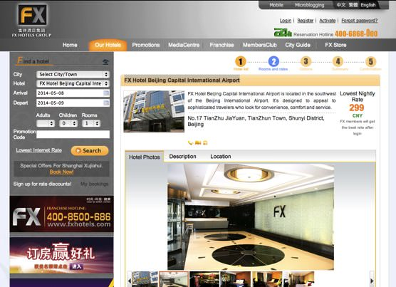 FX hotels