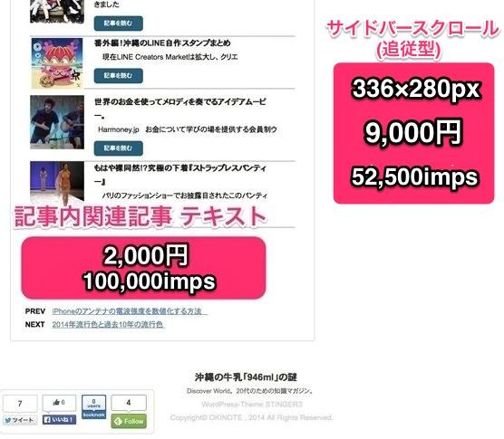 広告 媒体資料更新 2014-09
