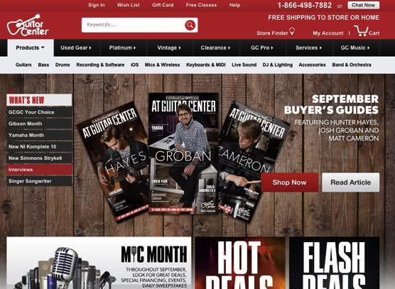 ニューヨーク  Guitar Center  ギターセンター