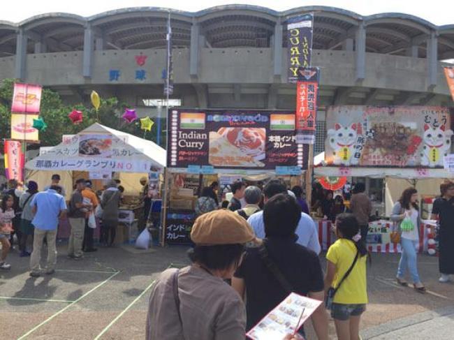沖縄グルメ頂上決戦の行列