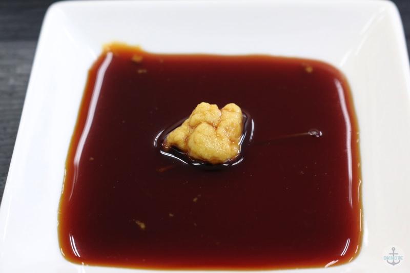 海鮮丼のワサビ