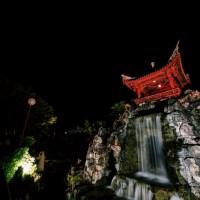 中国式庭園・福州園のライトアップ