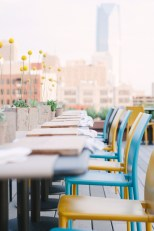 The rooftop table setting at Packard's