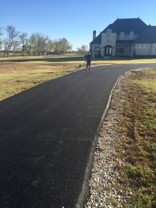 Medium Of Tar And Chip Driveway