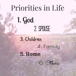 Priorities in Life | Old Country Love