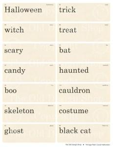 Vintage Halloween Flashcards