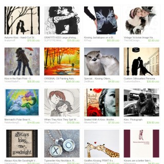 "Etsy Treasury ""a kiss is two souls touching"""
