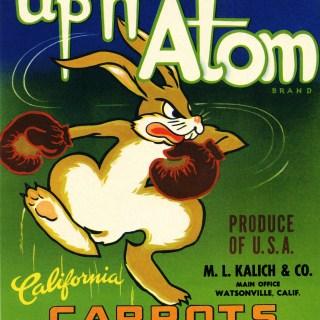 Up n' Atom Vintage Crate Label