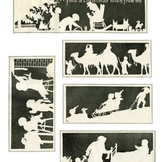 Vintage Christmas Silhouette Illustrations