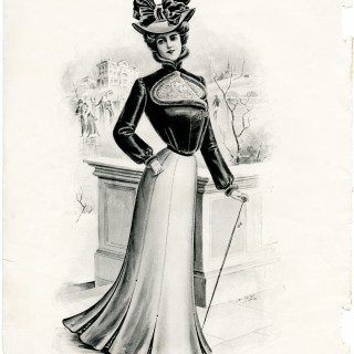 Victorian Lady in Winter Fashion