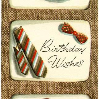 Vintage Masculine Birthday Card