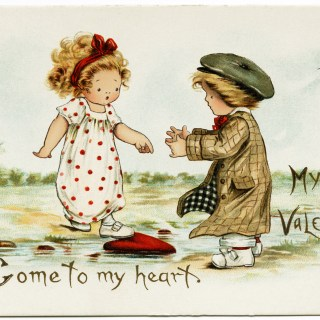 Vintage Valentine ~ Come to my Heart