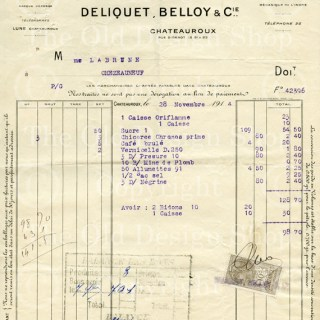 Vintage French Invoice