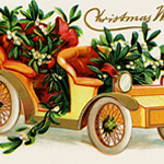Car Filled with Mistletoe ~ Free Graphic