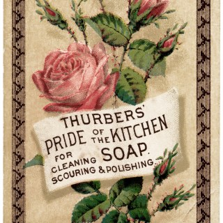 Thurbers Kitchen Soap Victorian Card