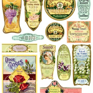 New Digital Collage Sheet in my Shop ~ Vintage Beauty Labels