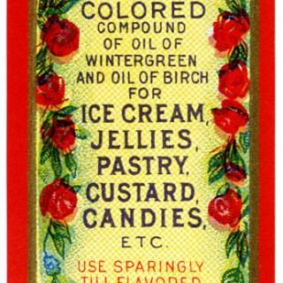 Vintage Wintergreen Food Label