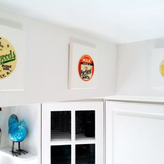 Milk Bottle Cap Soffit Gallery by Meg