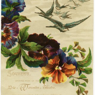 Birds and Flowers Victorian Card