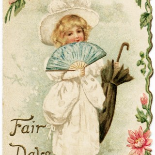 Fair Days Victorian Christmas Card