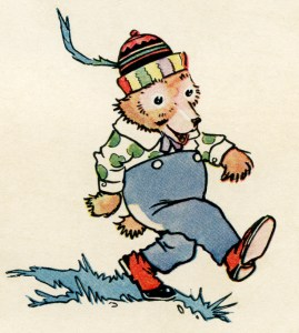 little brown bear picture, free vintage image, free printable, vintage storybook bear, digital image for graphic design, copyright free vintage image, storybook page, johnny gruelle illustration, antique clipart