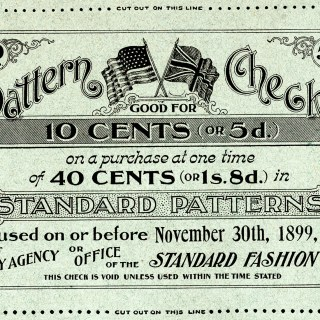Sewing Pattern Check 1899