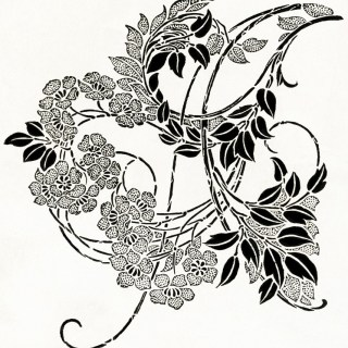 Black and White Ornamental Design