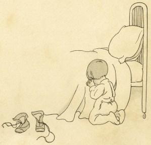 bedtime prayers vintage image, free vintage clipart child baby pray, antique baby book picture, vintage graphic download, digital image for graphic design, child scrapbooking image