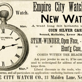 Empire City Watch Vintage Ad