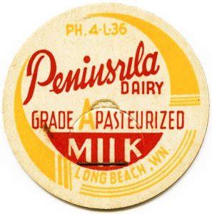 vintage milk bottle cap, cardboard milk tag, free vintage clipart milk, yellow red milk cap, peninsula dairy milk bottle cap, vintage milk, paper milk lid, free vintage digital image, vintage ephemera