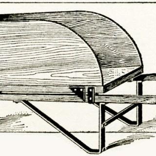 Wooden Wheelbarrow Vintage Illustration