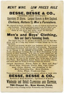 besse, besse & co, victorian trade card, free vintage image, free vintage clipart, vintage mens and boys clothing ad, vintage advertising card