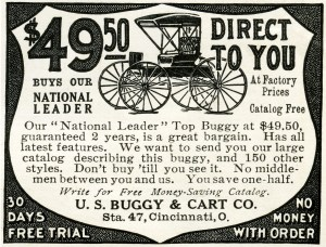 free vintage image buggy, horse and buggy ad, 1907 buggy advertisement, antique buggy illustration, U.S. Buggy & Cart Co,