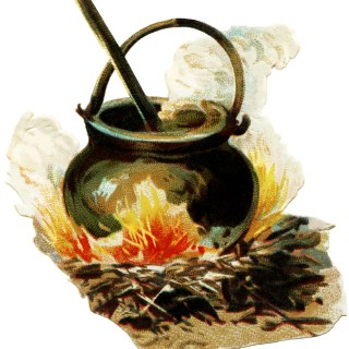 Free Victorian Clipart ~ Cauldron for Halloween