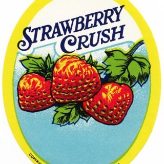 Strawberry Crush ~ Free Vintage Label