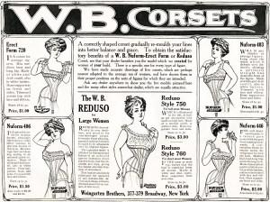 W B Corsets vintage ad, free vintage image, free vintage clipart corset, vintage fashion ad, victorian corsets, vintage corset advertisement, victorian womens fashion
