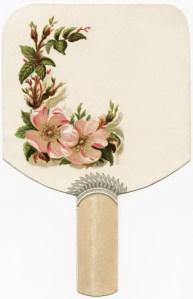 free victorian clipart, fan shaped card, antique clip art graphic, public domain digital download
