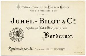 vintage french ephemera, french business card, juhel bilot, free vintage graphic, antique french advertising