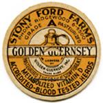 vintage milk bottle cap, golden guernsey milk, cardboard milk cap, stony ford farms milk, old milk cap, vintage ephemera