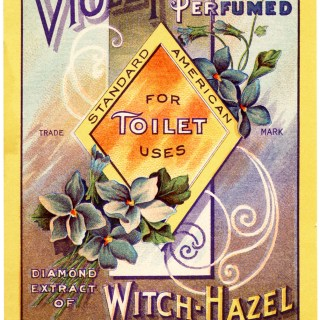 Violet Perfumed Witch Hazel Label