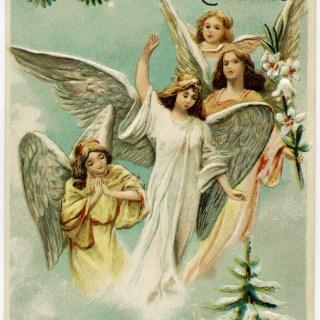 Merry Christmas ~ Free Vintage Postcard