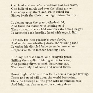 A Christmas Poem by Lucia W. Eames