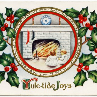 Yule-tide Joys Christmas Postcard